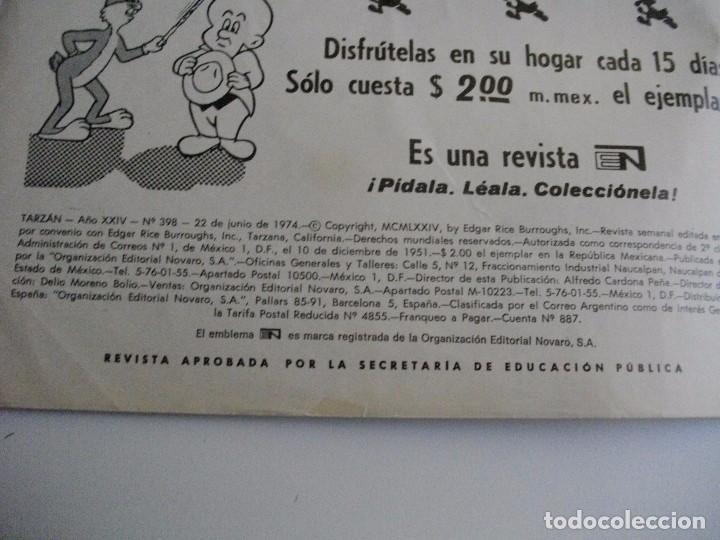 Tebeos: TARZAN DE LOS MONOS Nº 398 AÑO 1974 EL DE LAS FOTOS - VER TODOS MIS LOTES DE TEBEOS - Foto 3 - 85406408