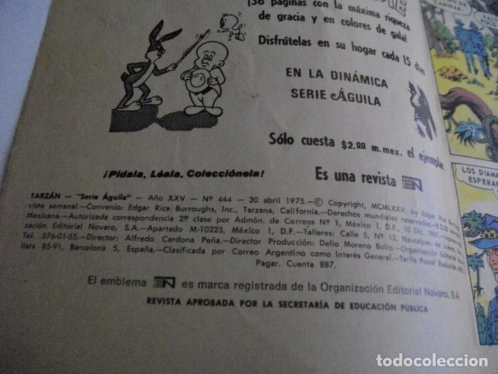 Tebeos: TARZAN DE LOS MONOS SERIE AGUILA Nº 444 AÑO 1975 EL DE LAS FOTOS - VER TODOS MIS LOTES DE TEBEOS - Foto 2 - 85406808
