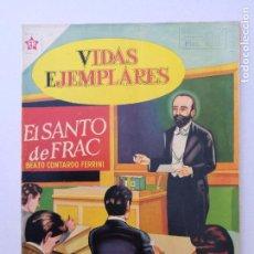 Tebeos: VIDAS EJEMPLRES N°10,EL SANTO DEL FRAC, EDT.NOVARO. Lote 85737548