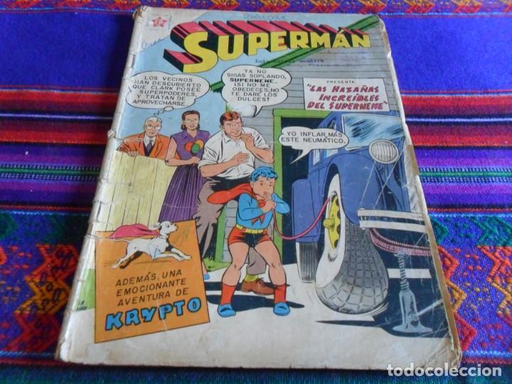 BUEN PRECIO SUPERMAN Nº 233 LAS HAZAÑAS INCREÍBLES DEL SUPERNENE. NOVARO 1960. (Tebeos y Comics - Novaro - Superman)