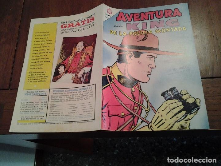 Tebeos: AVENTURA KING DE LA POLICIA MONTADA Nº 347 - NOVARO AÑO 1964 - DIFICIL DE ENCONTRAR EN ESTE ESTADO - Foto 3 - 86229328