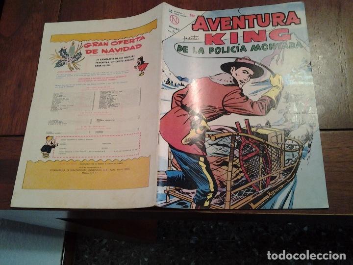 AVENTURA KING DE LA POLICIA MONTADA Nº 313 - NOVARO AÑO 1964 - DIFICIL DE ENCONTRAR EN ESTE ESTADO (Tebeos y Comics - Novaro - Aventura)