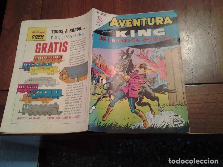 Tebeos: AVENTURA KING DE LA POLICIA MONTADA Nº 321 - NOVARO AÑO 1964 - DIFICIL DE ENCONTRAR EN ESTE ESTADO - Foto 4 - 86270504