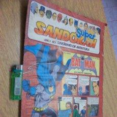 Tebeos: SANDOKAN-SUPERMAN-BATMAN -TARZAN (ROMITA) MANDRAKE NUM.1 TIP. DIARIO COLOR 32 PAG. Lote 86558456