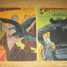 Tebeos: SUPERHOMBRE N.122 Y 114 SUPERMAN, FLECHA VERDE,BATMAN, EDIT. MUCHNIK ARGENT. LOTE. Lote 86930016