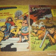 Tebeos: SUPERHOMBRE N.109 Y 116 SUPERMAN, FLECHA VERDE,BATMAN,JUAN RAYO EDIT. MUCHNIK ARGENT. LOTE. Lote 86930436