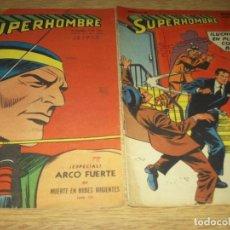 Tebeos: SUPERHOMBRE N.143 Y 244 SUPERMAN, FLECHA VERDE,BATMAN,JUAN RAYO EDIT. MUCHNIK ARGENT. LOTE. Lote 86931400