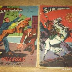Tebeos: SUPERHOMBRE N.109 Y 116 SUPERMAN, FLECHA VERDE,BATMAN,JUAN RAYO EDIT. MUCHNIK ARGENT. LOTE. Lote 86931824