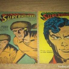 Tebeos: SUPERHOMBRE N.230 Y 240 SUPERMAN, FLECHA VERDE,BATMAN,JUAN RAYO EDIT. MUCHNIK ARGENT. LOTE. Lote 86939900