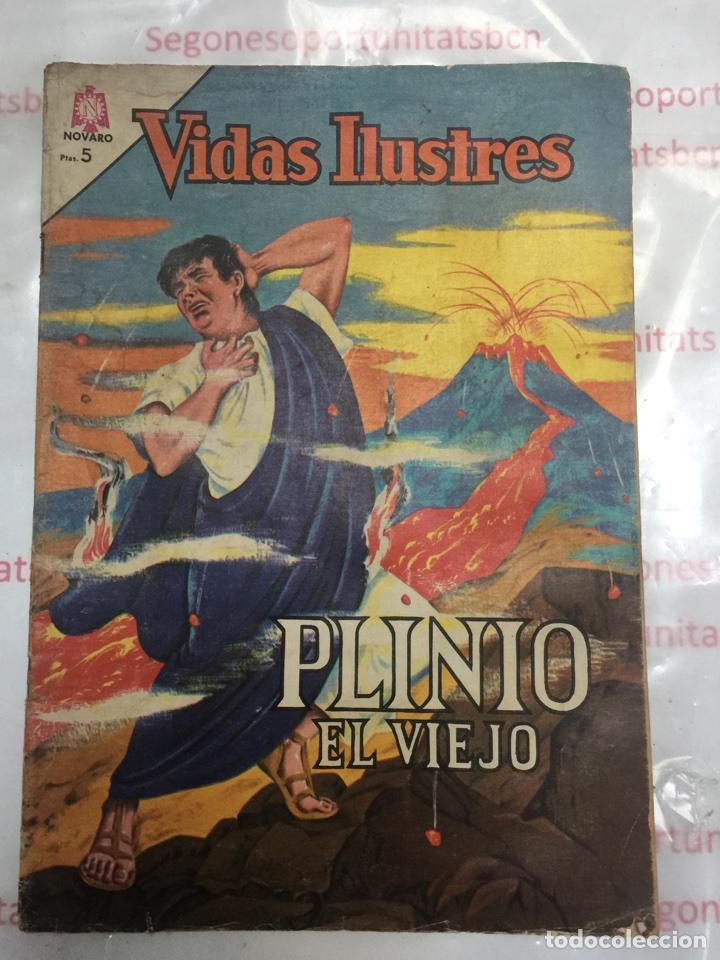 VIDAS ILUSTRES PLINIO EL VIEJO DE NOVARO 1964 (Tebeos y Comics - Novaro - Vidas ilustres)