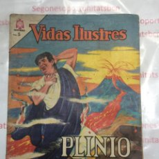 Tebeos: VIDAS ILUSTRES PLINIO EL VIEJO DE NOVARO 1964. Lote 88270312