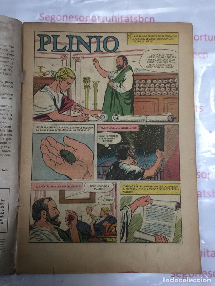 Tebeos: Vidas ilustres PLINIO EL VIEJO de novaro 1964 - Foto 3 - 88270312