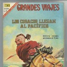 GRANDES VIAJES 49: LOS COSACOS LLEGAN AL PACÍFICO, 1967, Novaro, buen estado.