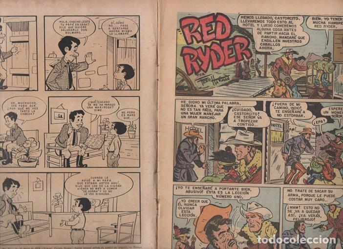 Tebeos: RED RYDER # 41 NOVARO 1958 POR FRED HARMAN CASTORCITO TILA & LA DUQUESA BUEN ESTADO 32 PAG - Foto 2 - 89466464