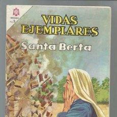 Tebeos: VIDAS EJEMPLARES 218: SANTA BERTA, 1966, NOVARO, MUY BUEN ESTADO. Lote 89850916