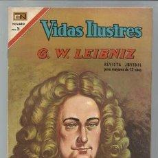 Tebeos: VIDAS ILUSTRES 174: G.W. LEIBNIZ, 1967, NOVARO, MUY BUEN ESTADO. Lote 89852712