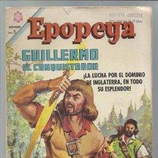 Tebeos: EPOPEYA 93: GUILLERMO EL CONQUISTADOR, 1966, NOVARO. Lote 89884460