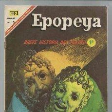 Tebeos: EPOPEYA 109: BREVE HISTORIA DEL TEATRO 1, 1967, NOVARO, BUEN ESTADO. Lote 89885632