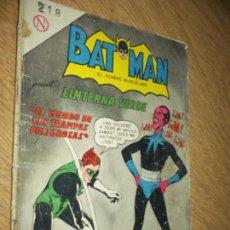 Tebeos: BATMAN N.218 GREEN LANTERN VS. SINIESTRO- LINTERNA VERDE 1964-OFERTA. Lote 91014830