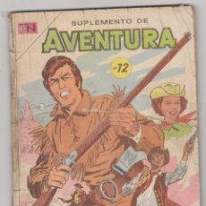 Tebeos: SUPLEMENTO DE AVENTURA Nº 12. NOVARO 1958 - 1971. CONTIENE LOS EJEMPLARES 691,692 Y 716, MUY RARO... Lote 91439905