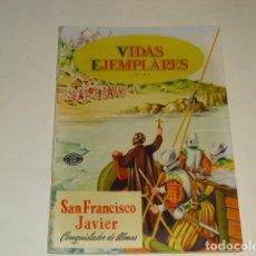 Tebeos: VIDAS EJEMPLARES - Nº 8 - SAN FRANCISCO JAVIER - 1º DICIEMBRE DE 1954 -. Lote 91605930