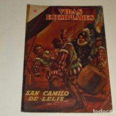 Tebeos: VIDAS EJEMPLARES - Nº 38 - SAN CAMILO DE LELIS - 1 DE JUNIO DE 1957 -. Lote 91607145