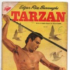 Tebeos: TARZAN # 27 NOVARO 1954 LEX BARKER TARZAN AUXILIA A TANTOR BOY LA HERMANDAD DE LA LANZA 32 PAG. Lote 92279695