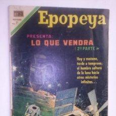 Livros de Banda Desenhada: EPOPEYA- Nº 147- LO QUE VENDRÁ- 2ª PARTE- 1970- MUY BUENO Y ESCASO- COLECCIONABLE- 6916. Lote 92733580