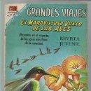 Tebeos: GRANDES VIAJES 68: EL MARAVILLOSO VUELO DE LAS AVES, 1968, NOVARO, BUEN ESTADO. Lote 93070360