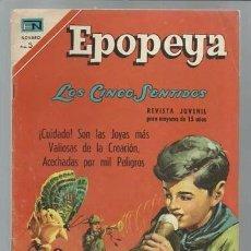 Tebeos: EPOPEYA 114: LOS CINCO SENTIDOS, 1967, NOVARO, MUY BUEN ESTADO. Lote 93072910