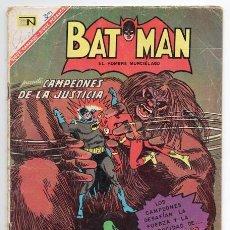 Tebeos: BATMAN # 369 NOVARO CAMPEONES DE LA JUSTICIA 1967 ATOM FLECHA VERDE MUJER MARAVILLA HOMBRE HALCON. Lote 93314185