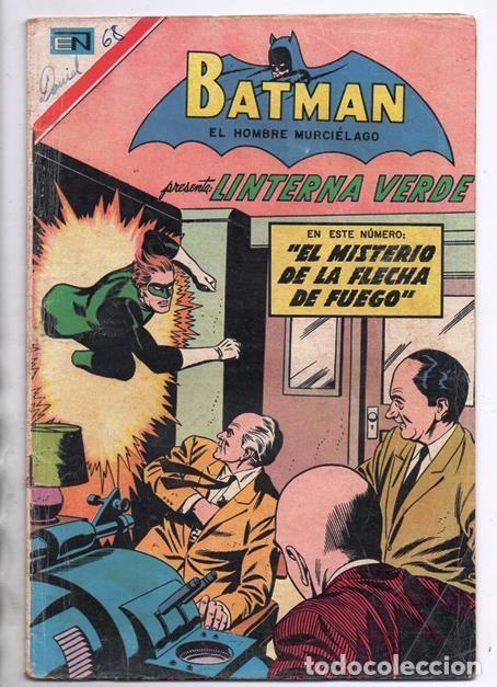BATMAN # 402 ORIGEN DE LINTERNA VERDE NOVARO 1967 AMENAZA DEL PROYECTIL DESVIADO GREEN LANTERN # 22 (Tebeos y Comics - Novaro - Batman)