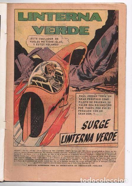 Tebeos: BATMAN # 402 ORIGEN DE LINTERNA VERDE NOVARO 1967 AMENAZA DEL PROYECTIL DESVIADO GREEN LANTERN # 22 - Foto 2 - 93412880