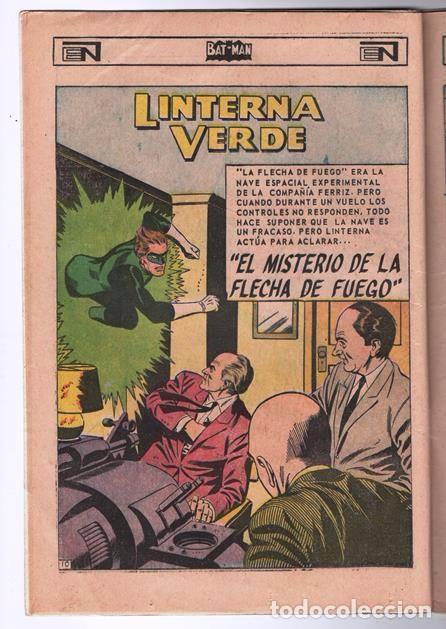 Tebeos: BATMAN # 402 ORIGEN DE LINTERNA VERDE NOVARO 1967 AMENAZA DEL PROYECTIL DESVIADO GREEN LANTERN # 22 - Foto 5 - 93412880