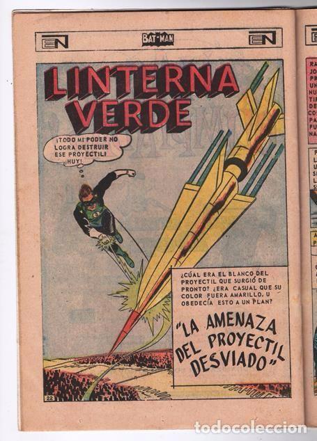 Tebeos: BATMAN # 402 ORIGEN DE LINTERNA VERDE NOVARO 1967 AMENAZA DEL PROYECTIL DESVIADO GREEN LANTERN # 22 - Foto 6 - 93412880