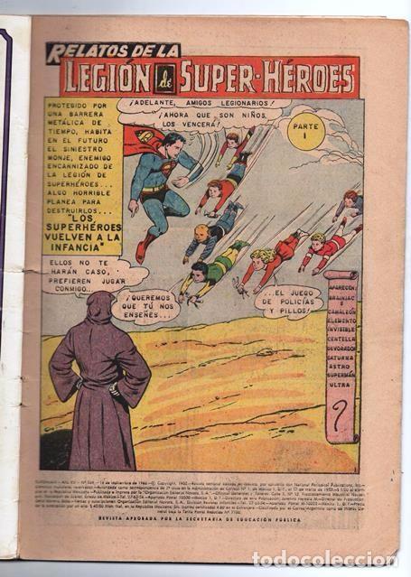 Tebeos: SUPERMAN # 569 LEGION DE SUPERHEROES NOVARO 1966 BRAINIAC CAMALEON ELEMENTO INVISIBLE CENTELLA ASTRO - Foto 2 - 93634670