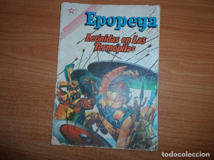 EPOPEYA Nº 42: LEÓNIDAS EN LAS TERMÓPILAS, 1961 EDITORIAL NOVARO (Tebeos y Comics - Novaro - Epopeya)