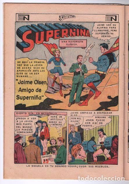Tebeos: SUPERMAN # 623 NOVARO 1967 ETERNO EL COLOSO INMORTAL JAIME OLSEN SUPERNIÑA ACTION COMICS # 343 - Foto 4 - 93724385