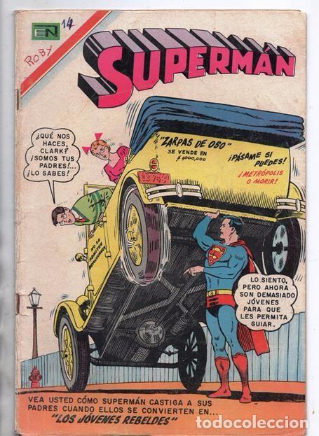 SUPERMAN # 627 NOVARO 1967 LOS JOVENES REBELDES EL ARBOL GENEALOGICO DE KRYPTO BUEN ESTADO (Tebeos y Comics - Novaro - Superman)