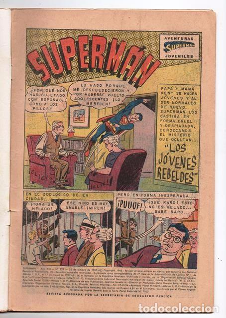 Tebeos: SUPERMAN # 627 NOVARO 1967 LOS JOVENES REBELDES EL ARBOL GENEALOGICO DE KRYPTO BUEN ESTADO - Foto 2 - 93724800