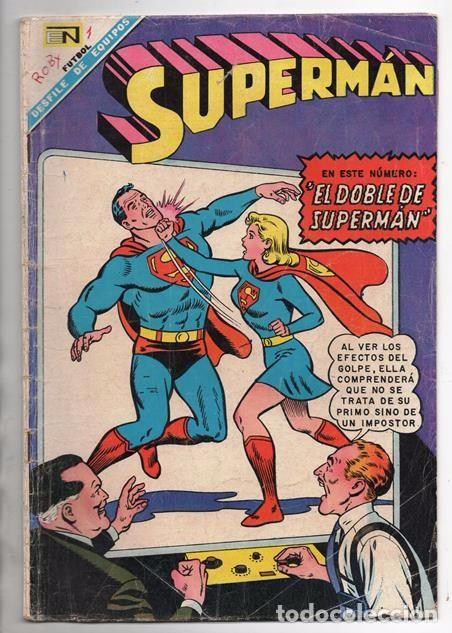 SUPERMAN # 637 NOVARO 1968 SUPERNIÑA EL DOBLE DE SUPERMAN BUEN ESTADO (Tebeos y Comics - Novaro - Superman)