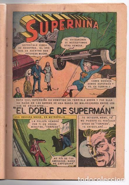 Tebeos: SUPERMAN # 637 NOVARO 1968 SUPERNIÑA EL DOBLE DE SUPERMAN BUEN ESTADO - Foto 4 - 93787895