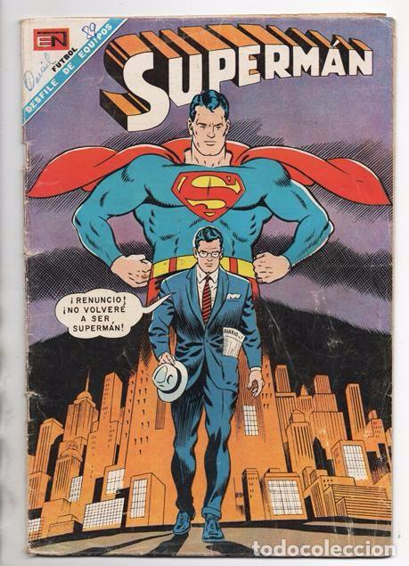 SUPERMAN # 655 NOVARO 1968 CLARK KENT ABANDONA A SUPERMAN BUEN ESTADO (Tebeos y Comics - Novaro - Superman)