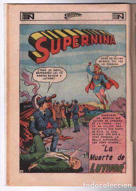 Tebeos: SUPERMAN # 671 NOVARO 1968 EL ANIQUILADOR SUPERNIÑA LA MUERTE DE LEX LUTHOR BUEN ESTADO - Foto 3 - 93809585