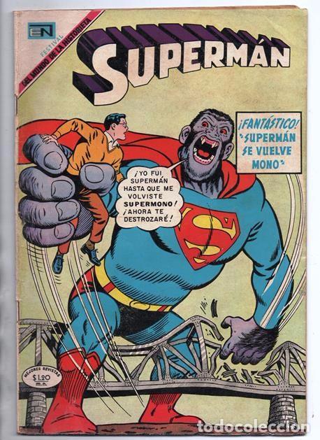 SUPERMAN # 729 NOVARO 1969 SUPERMAN SE VUELVE MONO EL CHICO MAS TIMIDO DE LA CIUDAD BUEN ESTADO (Tebeos y Comics - Novaro - Superman)