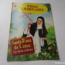 Tebeos: VIDAS EJEMPLARES, Nº. 83-SANTA ROSA DE LIMA, LA FLOR MÍSTICA DE AMÉRICA.15 DE AGOSTO DE 1960-NOVARO. Lote 94052650