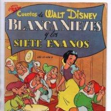 Tebeos: CUENTOS DE WALT DISNEY # 31 NOVARO SEA 1952 BLANCA NIEVES Y LOS SIETE ENANOS REINA GRIMILDA PRINCIPE. Lote 94685763