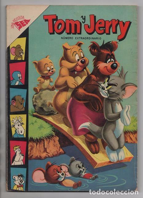 TOM Y JERRY NUMERO EXTRAORDINARIO NOVARO 1957 BALON Y BALIN BARNEY MOTITA FLIP Y DIP EXCELENTE 96 P (Tebeos y Comics - Novaro - Tom y Jerry)