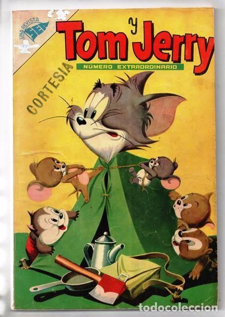 TOM Y JERRY NUMERO EXTRAORDINARIO NOVARO 1955 BALON Y BALIN BARNEY MOTITA FLIP Y DIP EXCELENTE 96 P (Tebeos y Comics - Novaro - Tom y Jerry)