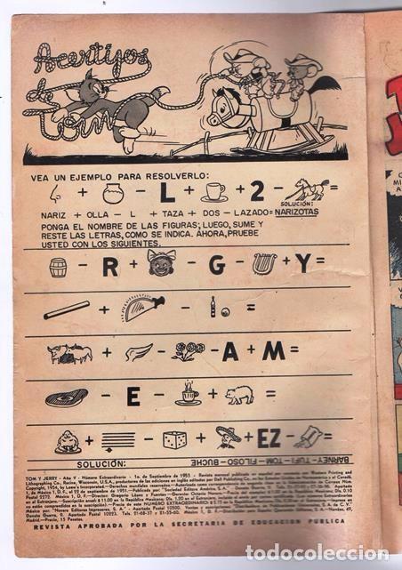 Tebeos: TOM Y JERRY NUMERO EXTRAORDINARIO NOVARO 1955 BALON Y BALIN BARNEY MOTITA FLIP Y DIP EXCELENTE 96 P - Foto 3 - 94959911